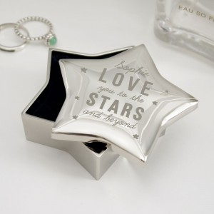 Personalised Love You To The Stars Star Trinket Box