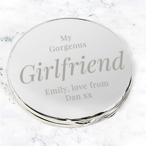Personalised Free Text Compact Mirror