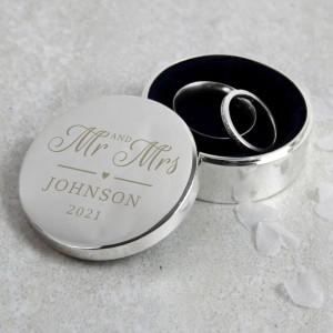Personalised Mr & Mrs Ring Box