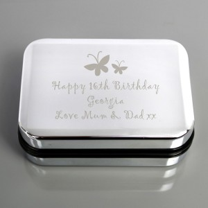 Personalised Butterfly Motif Necklace Gift Box