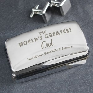 "Personalised ""The World's Greatest"" Cufflink Box"