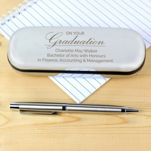 Personalised Graduation Pen and Box Set