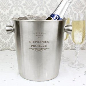 Personalised Decorative Stainless Steel Ice Bucket