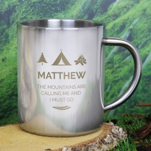 "Personalised ""Wilderness Wanderer"" Stainless Steel Mug"