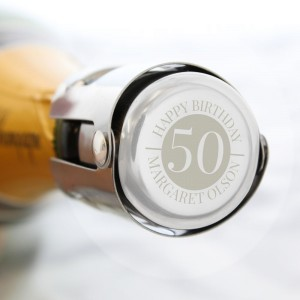 Personalised Big Number Bottle Stopper