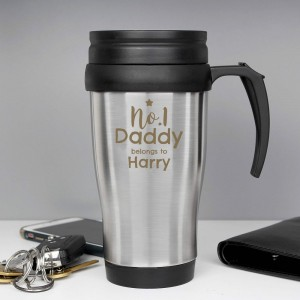 Personalised No.1 Daddy Travel Mug