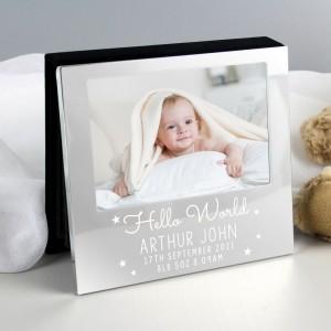 Personalised Hello World 6x4 Photo Frame Album
