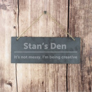 Personalised Bold Design Hanging Slate Plaque ...