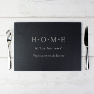 Personalised HOME Slate Rectangle Placemat