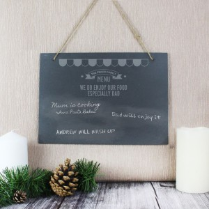 Personalised Menu Hanging Large Slate Sign