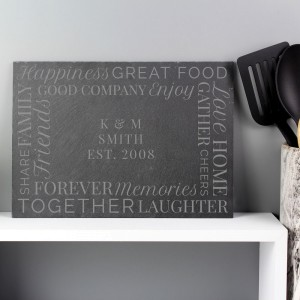 "Personalised ""Together"" Slate Placemat"