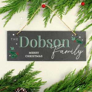 Personalised Christmas Slate Plaque