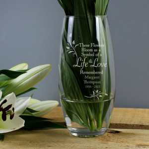 Personalised Life & Love Vase