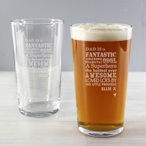 Personalised He is...Pint Glass