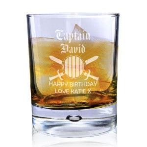 Personalised Captain Tumbler Bubble Glass