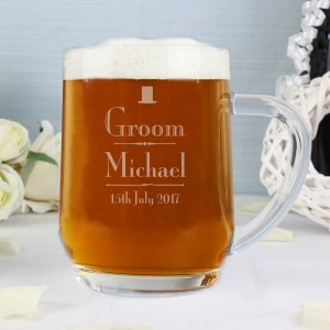 Personalised Decorative Wedding Groom Tankard