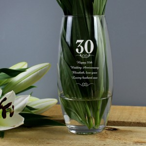 Personalised 30 Years Bullet Vase