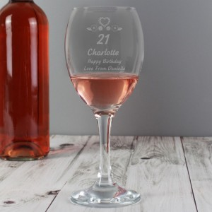 Personalised Birthday Craft Wine Glass