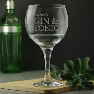 Personalised Gin & Tonic Balloon Glass