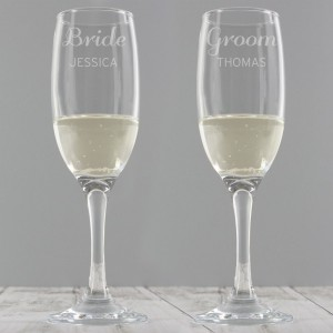 Personalised Classic Pair of Flutes