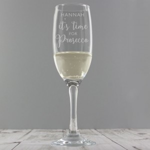 "Personalised ""It's Time for Prosecco"" Flute"