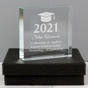 Personalised Graduation Large Crystal Token
