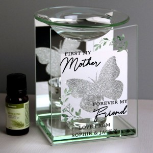 """Personalised """"First My Mother"""" Butterfly Oil Burner"""