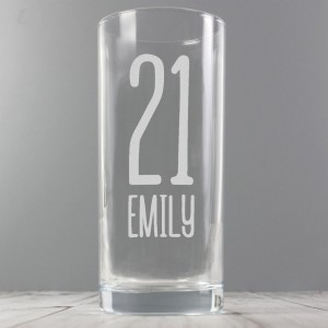 Personalised Big Age Hi Ball Glass