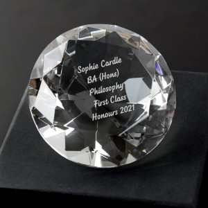 Personalised Diamond Paperweight
