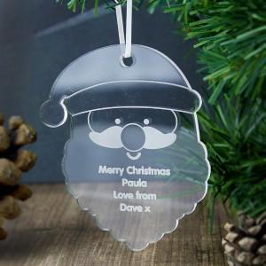 Personalised Acrylic Santa Decoration