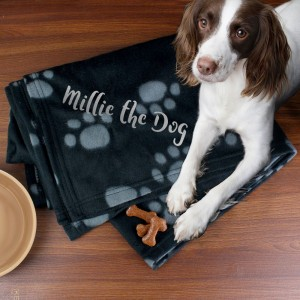Personalised Dog Paw Print Fleece Blanket