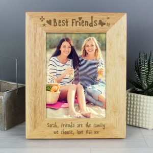 Personalised Best Friends 5x7 Wooden Photo Frame