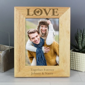Personalised Love 5x7 Wooden Photo Frame