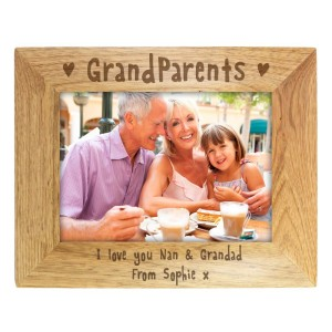 Personalised 7x5 Grandparents Wooden Photo Frame