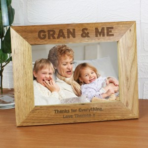 Personalised 7x5 Gran & Me Wooden Photo Frame
