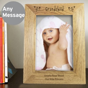 Personalised Grandchild 5x7 Wooden Photo Frame