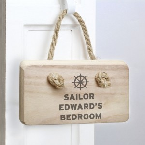 Personalised Nautical Wooden Sign