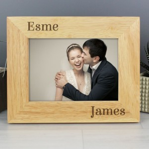 Personalised 5x7 Couples Wooden Photo Frame