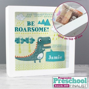 Personalised Dinosaur Fund and Keepsake Box