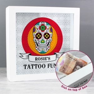 Personalised Sugar Skull Tattoo Fund and Keepsake Box