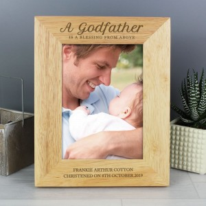 Personalised Godfather 5x7 Wooden Photo Frame