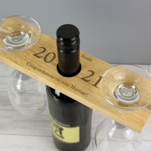 "Personalised ""Year"" Wine Glass & Bottle Holder"