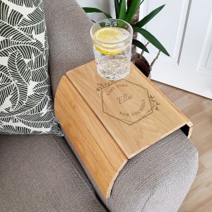 Personalised Take Time For Yourself Wooden Sofa Tray