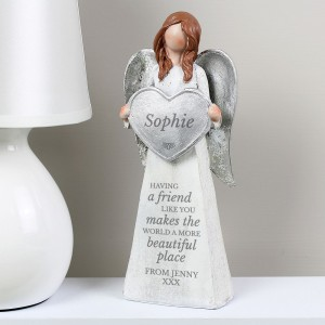 Personalised A Friend Like You Angel Ornament