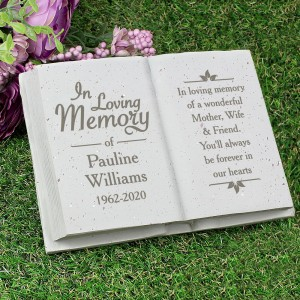 Personalised In Loving Memory Memorial Book