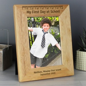 Personalised 5x7 My First Day at School Wooden Photo Frame