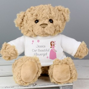 Personalised Fabulous Flower Girl Teddy Bear