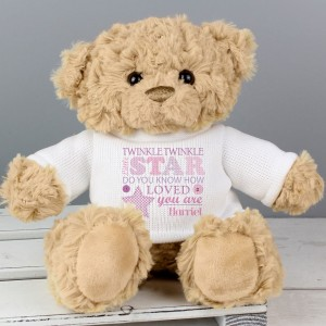 Personalised Twinkle Girls Teddy Bear