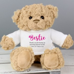 Personalised #Bestie Teddy Bear