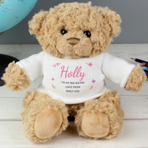 Personalised Pink Name & Message Teddy Bear